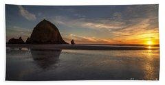 Cannon Beach Dusk Conclusion Beach Towel