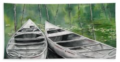 Canoes To Go Beach Towel