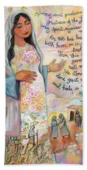 Canticle Of Mary Beach Towel