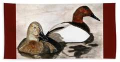 Canvasback Couple Beach Towel
