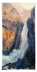 Canyon Blues Beach Towel by Gail Kirtz