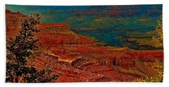 Canyon Colours Show Through Beach Towel by Jim Hogg