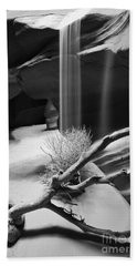 Beach Sheet featuring the photograph Canyon Sandfall by Bryan Keil