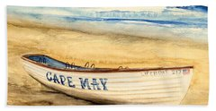 Cape May Lifeguard Boat - 2 Beach Towel
