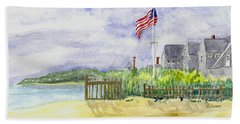 Massachusetts -cape Cod Cottages Beach Towel by Christine Lathrop