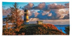Cape Disappointment Light House Beach Sheet