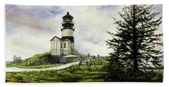 Cape Disappointment Lighthouse On The Washington Coast Beach Towel