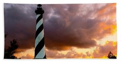 Cape Hatteras Sunset Beach Towel by Nick Zelinsky