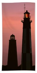 Cape Henry Lighthouses  Beach Towel