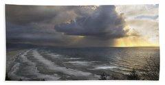 Sunset At Cape Lookout Oregon Coast Beach Towel