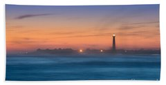 Cape May Lighthouse Sunset Beach Towel