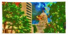 Capital - Jefferson City Missouri - Painting Beach Towel