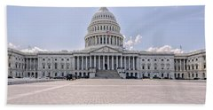 Beach Towel featuring the photograph Capitol Building by Peter Lakomy