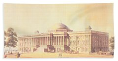 Capitol Of The United States, Engraved By Thomas Sutherland, 1825 Aquatint Beach Towel