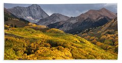 Capitol Peak In Snowmass Colorado Beach Towel