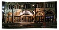 Beach Towel featuring the photograph Capitol Theatre by Ely Arsha