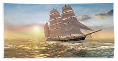 Captain Larry Paine Clippership Beach Towel