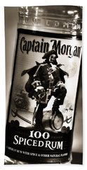 Captain Morgan Black And White Beach Towel