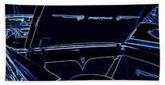 Beach Towel featuring the digital art Car Blues by Bobbee Rickard