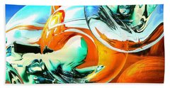 Car Fandango - Abstract Art Beach Sheet by Art America Gallery Peter Potter