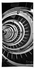 Time Tunnel Spiral Staircase In Sao Paulo Brazil Beach Towel
