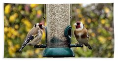 Carduelis Carduelis 'goldfinch' Beach Towel