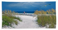 Carefree Days By The Sea Beach Towel