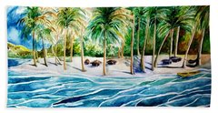 Caribbean Harbor Beach Towel