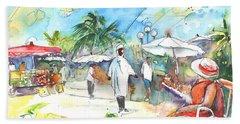 Caribbean Market Beach Towel