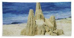 Beach Towel featuring the photograph Caribbean Sand Castle  by Betty LaRue