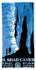 Carlsbad Caverns National Park Vintage Poster Beach Towel