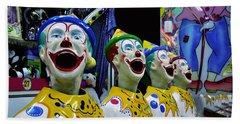 Carnival Clowns Beach Sheet