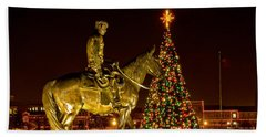 Beach Towel featuring the photograph Carol Of Lights by Mae Wertz