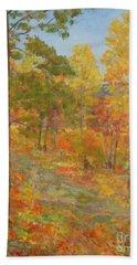 Carolina Autumn Gold Beach Towel