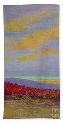 Carolina Autumn Sunset Beach Towel