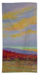 Carolina Autumn Sunset Beach Towel