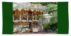 Carousel In Paris Beach Sheet