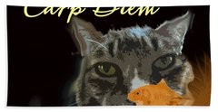 Carp Diem Beach Towel
