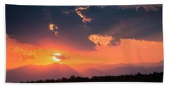 Beach Sheet featuring the photograph Carpathian Sunset by Mihai Andritoiu