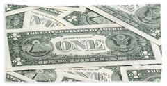 Beach Sheet featuring the photograph Carpet Of One Dollar Bills by Lee Avison
