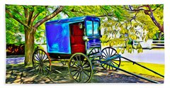 Amish Carriage Beach Sheet