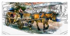 Carriage Ride Beach Sheet