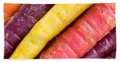 Carrot Rainbow Beach Towel by Heidi Smith