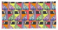 Cars Abstract  Beach Towel by Mark Ashkenazi