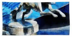 Cars - Lincoln Greyhound Hood Ornament Beach Towel
