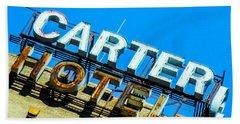 Carter Hotel Sign Beach Towel