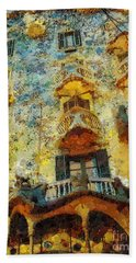 Casa Battlo Beach Towel by Mo T
