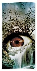 Cascade Crying Eye Beach Towel