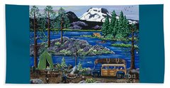 Cascade Lake Sparks Beach Towel