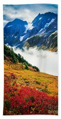 Cascade Pass Peaks Beach Towel by Inge Johnsson